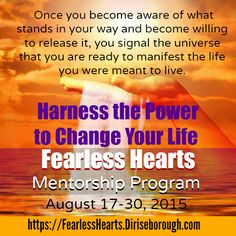 How To Stop Seeking The Approval Of Others & Regain Control Of Your Life-Join the Fearless Hearts Mentorship Program and Thrive in Life with less Fear-Launch Special NOW 17-30 Aug 2105!