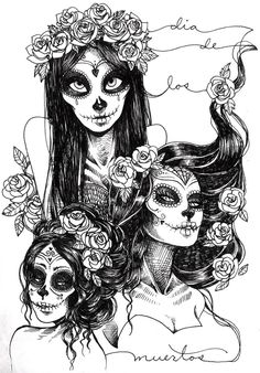 Sugar Skull Art (possible tat ideas)