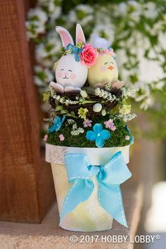 Add a bit of charm to your decor by painting paper-mache pieces!
