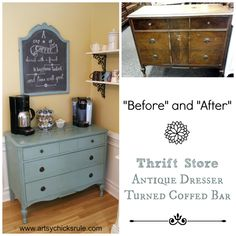 Coffee Bar Before and After - Annie Sloan Chalk Paint®
