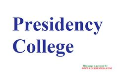 mba in project management - Get complete Information about MBA in Presidency College and all MBA courses details @ http://www.coursesmba.com/