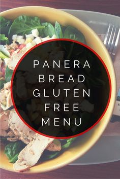 gluten free For the official Panera Bread gluten free menu, see here. Below, youll find the easy to read version of the Panera Bread gluten free menu. Panera Bread Gluten Free Menu Heres e Gluten Free Fast Food, Gluten Free Menu, Gluten Free Living, Foods With Gluten, Gluten Free Cooking, Gluten Free Desserts, Sans Gluten, Gluten Free Recipes, Dairy Free
