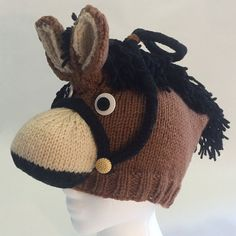 PATTERN Knit Horse Hat by ROFLhatfactory on Etsy