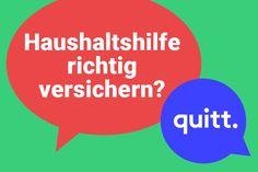 Blog – quitt.ch – Haushaltshilfen anstellen und versichern leicht gemacht. Chart, Blog, Casualty Insurance, Infographic, Too Busy, First Aid, Blogging