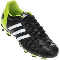 Chuteira Adidas 11Questra TRX FG Campo Preta / Verde