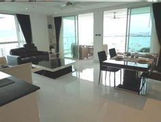 Amari Residences Pattaya, Beautiful condo for rent in Pratamnak  Fully-furnished as per the photos and decorated by a professional decorator using a nautical theme. Includes 2 King sized beds and mattresses, bedside tables, assorted bedside lamps, L-shaped sofa, coffee table, TV cabinet and...