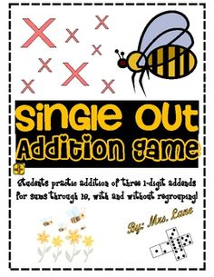 Single Out Addition Game! (For Elementary)