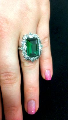 I Love Jewelry, Fine Jewelry, Madeleine Albright, Emerald Jewelry, Emeralds, Cluster Ring, Vintage Engagement Rings, Diamond Rings, Jewelery