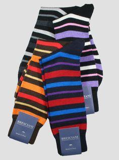 Bresciani Wool Stripe Crew - Men's   The Sock Hop