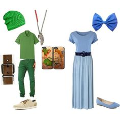 """""""Peter Pan and Wendy Darling Couple Costume"""" by dinosrule78 on Polyvore"""