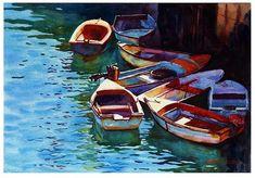 Small boats - Original Fine Art for Sale - © Graham Berry