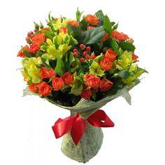 Букет «Оранжевое утро» — База цветов Alex Flowers