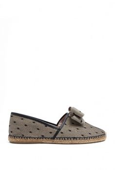 Leather Trim Tulle Espadrilles by Red Valentino