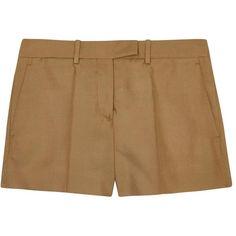 Womens Short & Mini Shorts MAISON MARGIELA Sand Silk Shantung Shorts ($605) ❤ liked on Polyvore featuring shorts, maison margiela, silk shorts and pocket shorts