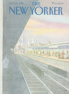 The New Yorker - Monday, November 24, 1980 - Issue # 2910 - Vol. 56 - N° 40 - Cover by : Charles E. Martin
