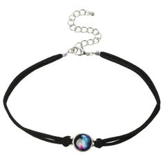 LOVEsick Galaxy Cord Choker | Hot Topic ($5) ❤ liked on Polyvore featuring jewelry, necklaces, planet necklace, black choker necklace, black choker, kohl jewelry and charm necklace
