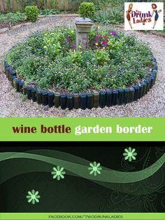 Wine Bottle Garden Border
