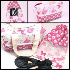 Kit bailarina: bolsa + saquinho! #kit #bailarina #bolsa #saquinho #bailarinas #rosa #pink #ballet #bale #bailarinas #bolsas #presentes #FashionArts #artesanatosdamoda
