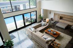 Modern living room. Interior design by Kip Rodrigue. Photography by Christine Mueller Photography. Builder: Graham Clark. Architect: John Bajandas. See more at www.StyleBlueprint.com.