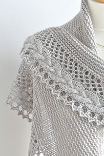 Shawl pattern: French Cancan by Mademoiselle C, knit in DK weight yarn. A free knitting pattern for a crescent shaped shawlette with a stunning lace and French braid border. Knit Or Crochet, Lace Knitting, Crochet Shawl, Knitting Stitches, Knitting Patterns, Crochet Patterns, Crochet Braid, Knitted Shawls, Crochet Scarves