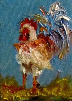 rooster.   Reminds me of my rooster hook rug from Portugal that I lost 25 years ago and still miss it