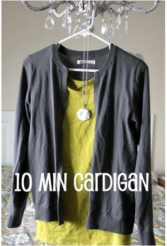 How to turn a crew neck sweater into a cardigan