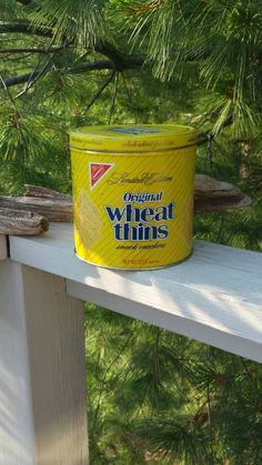 1987 Wheat Thins collectible tin. Limited edition. Nabisco by YesterdaysPieces on Etsy