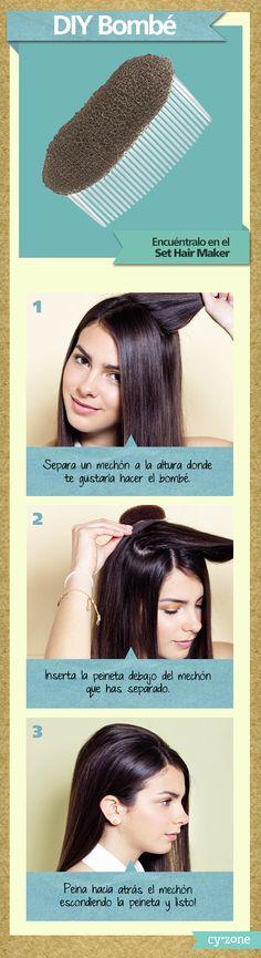 En un 2x3 ya tienes un peinado para impresionar! DYI Bombe #Cyzone