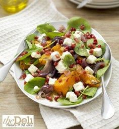 Butternut squash, feta and spinich salad - Marks & Spencers