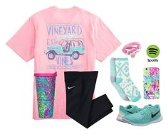 """On the way to a retreat!!!"" by apemb ❤ liked on Polyvore featuring NIKE, Free Press and Lilly Pulitzer"