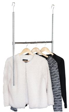 DecoBros Adjustable Hanging Closet Rod, Chrome