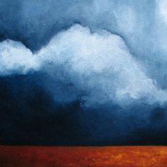 Original oil painting Landscape dark sky by Stormscapestudio
