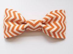 Orange Chevron Baby Bow Tie Photo Prop. Photography Prop. Newborn Bow Tie. Boy Photo Prop. Toddler Bow Tie. Baby Tie. $5.00, via Etsy.
