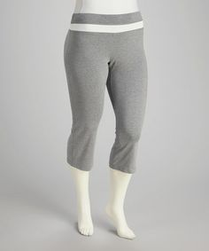 Take a look at this Gray Capri Plus-Size Lounge Pants by Rainbeau on #zulily today!$14.99, regular 24.00