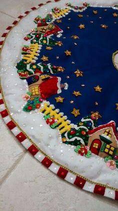 Bucilla Sugar Plum Fairy ~ Felt Christmas Tree Skirt K Christmas Skirt, Christmas Sewing, Felt Christmas, Christmas Stockings, Christmas Wreaths, Christmas Decorations, Christmas Ornaments, Christmas Bells, Xmas Tree Skirts