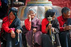 Travel Asian In front of the Derge Parkhang Printing Press, Tibet by reurinkjan, via Flickr