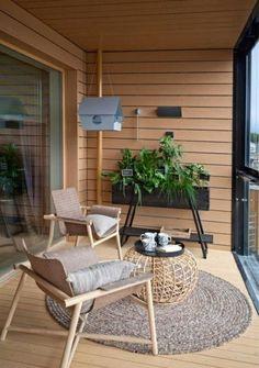 42 Small balcony lounge Ideas for the perfect relaxation port - Balkon Deko Ideen - Balcony Furniture Design Terrace Design, Patio Design, House Design, Terrace Ideas, Balcony Ideas, Design Design, Design Ideas, Small Balcony Decor, Small Terrace