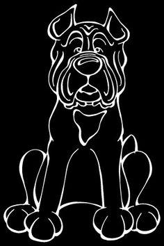 Cane Corso Decal Dog