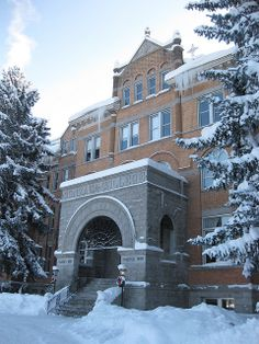 Gonzaga University in winter, Spokane WA