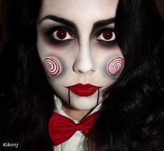 Maquillaje de Muñeca diabólica de Kikimj
