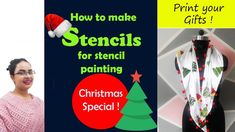 Making stencils at home is not a tough job. All you need is few sheets,a paper cutter, Marker and a little patience. This Christmas, Gift your loved ones a c. Making Stencils, How To Make Stencils, Stencil Printing, Embroidery Works, Fabric Painting, All You Need Is, Diy Fashion, Fabric Design, First Love
