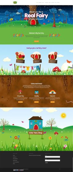 Unique Web Design, Real Fairy #WebDesign #Design (http://www.pinterest.com/aldenchong/)