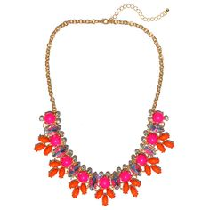 Fuchsia and Coral Jolie Necklace