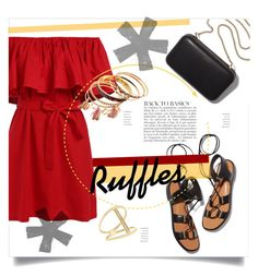 """""""Ruffles"""" by shari-s ❤ liked on Polyvore featuring Rosetta Getty, Clare V., Sydney Evan, Anja and ruffles"""