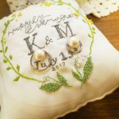 ナチュラルな雰囲気が好きな方におすすめ!刺繍を入れたリングピローが人気急上昇中♡ | Marry Jocee