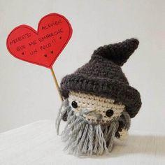 Mini Gandalf Amigurumi Patrón PDF por MishtoTienda en Etsy