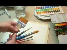 ▶ Curso de acuarela Qué usar para pintar a la acuarela - YouTube