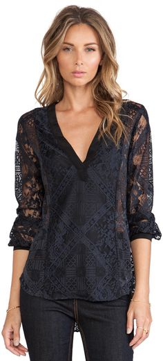 Twelfth Street By Cynthia Vincent V Neck Blouse is on sale now for - 25 % !