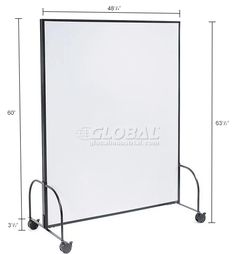 Whiteboards Bulletin Boards Mobile Office Parion Panel With Whiteboard 48