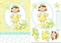 Lemonade Girl Topper Decoupage on Craftsuprint - Add To Basket!